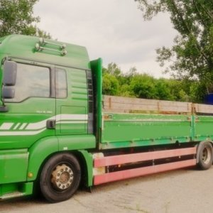 foto MAN load 7.3m/8t +18t BDF trailer